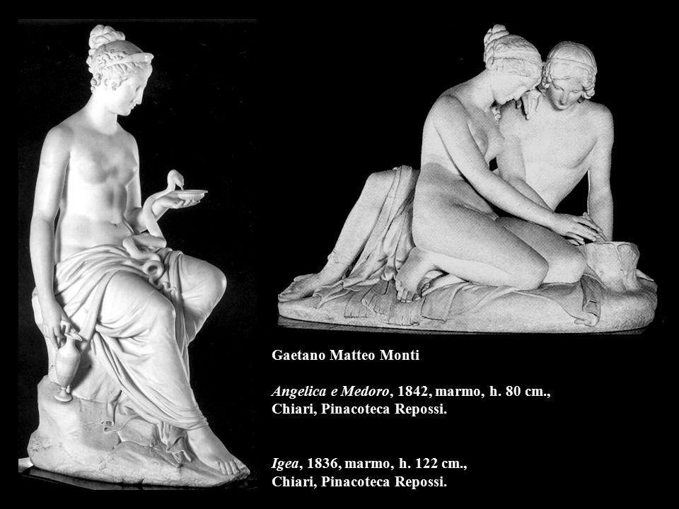 Gaetano Matteo Monti Angelica e Medoro, 1842, marmo, h. 80 cm