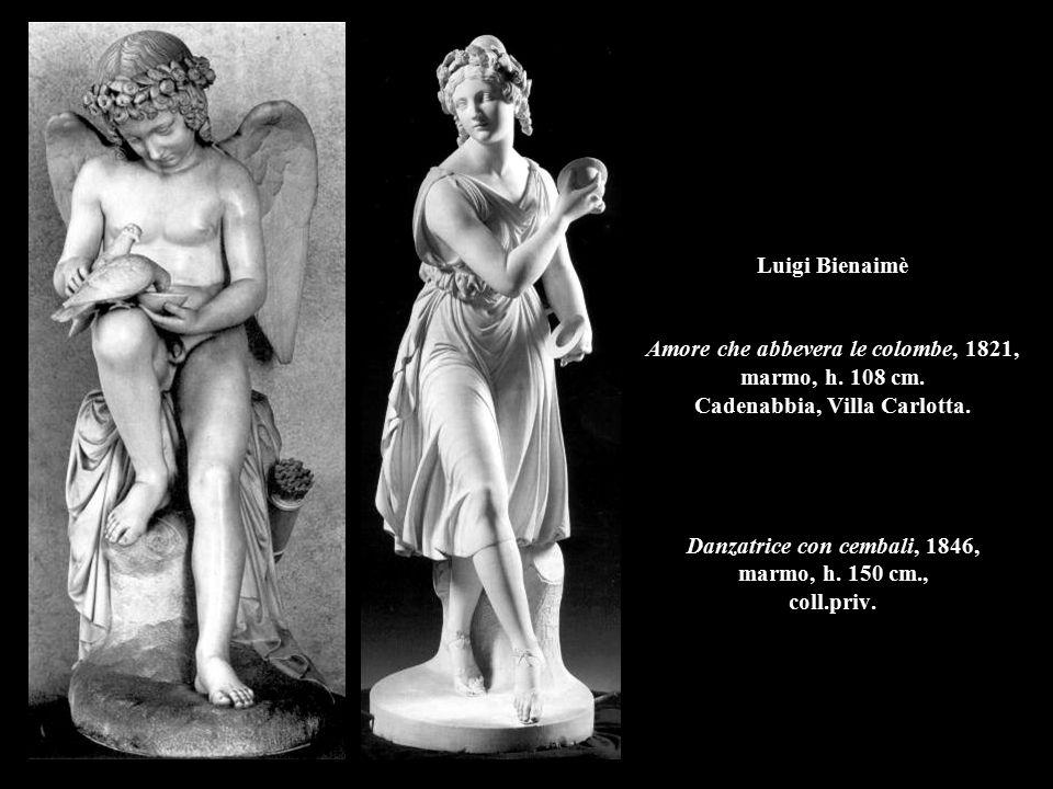 Luigi Bienaimè Amore che abbevera le colombe, 1821, marmo, h. 108 cm