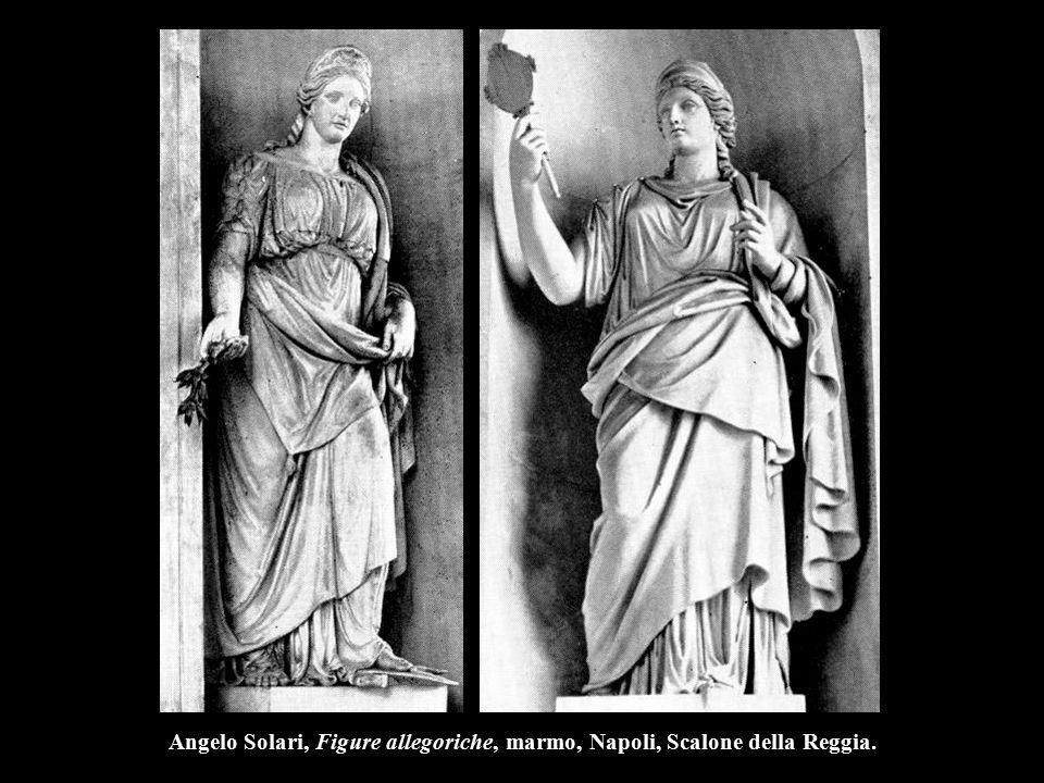 Angelo Solari, Figure allegoriche, marmo, Napoli, Scalone della Reggia.