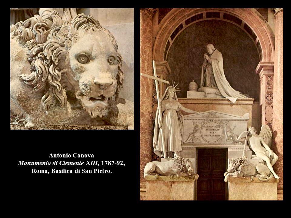 Antonio Canova Monumento di Clemente XIII, 1787-92, Roma, Basilica di San Pietro.