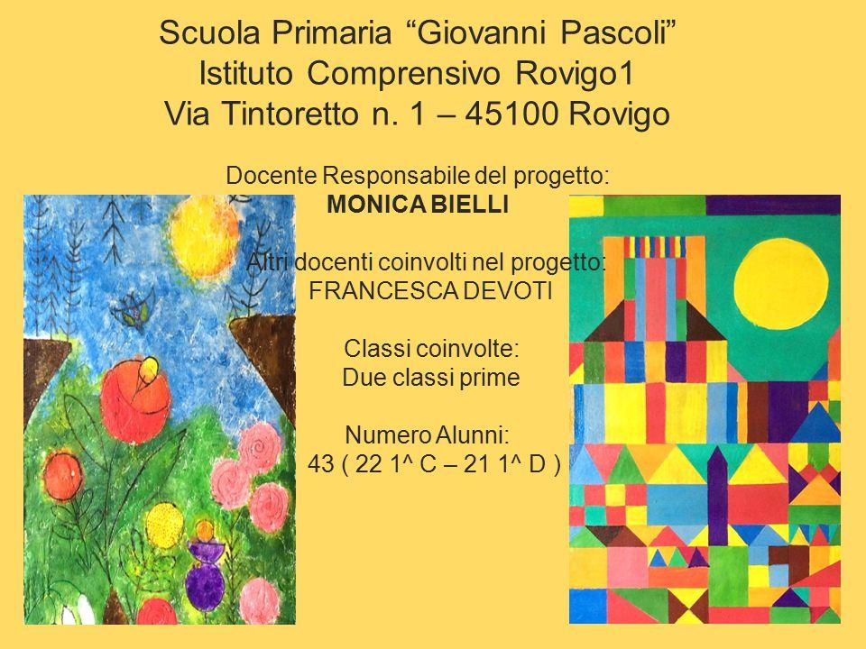 Scuola Primaria Giovanni Pascoli Istituto Comprensivo Rovigo1 Via Tintoretto n.