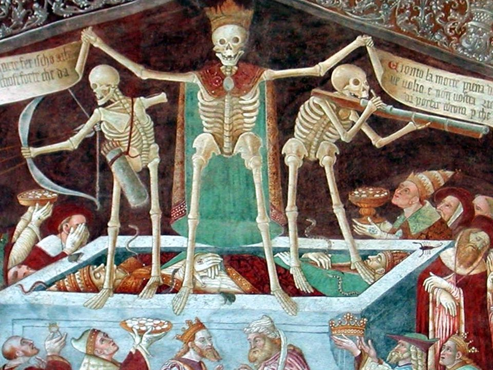 Clusone (BG) - Danza Macabra sulla facciata della Chiesa dei Disciplini (1485)