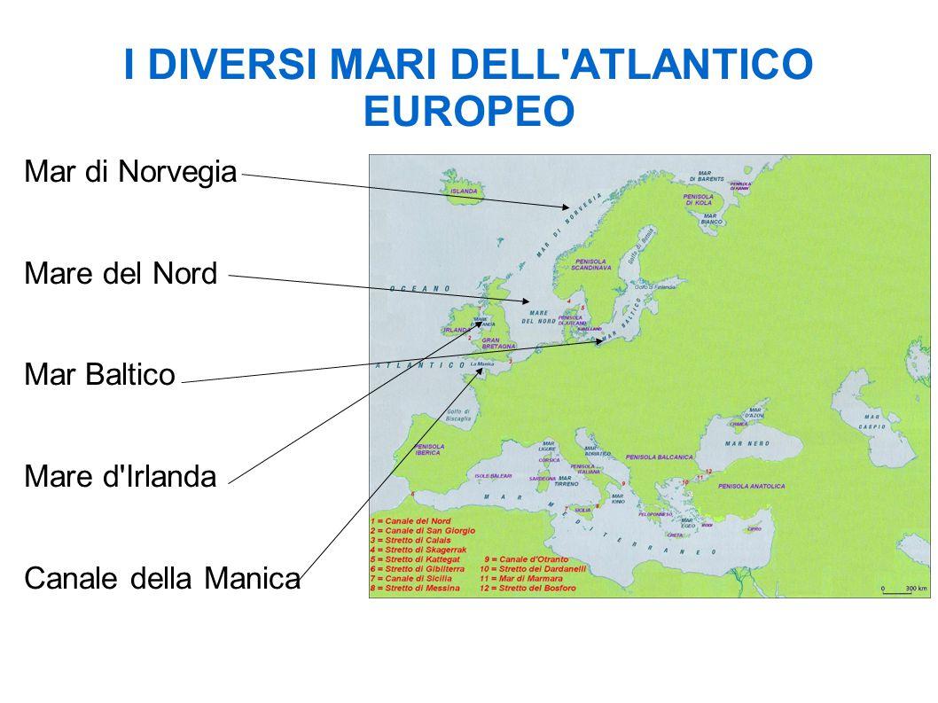 I DIVERSI MARI DELL ATLANTICO EUROPEO