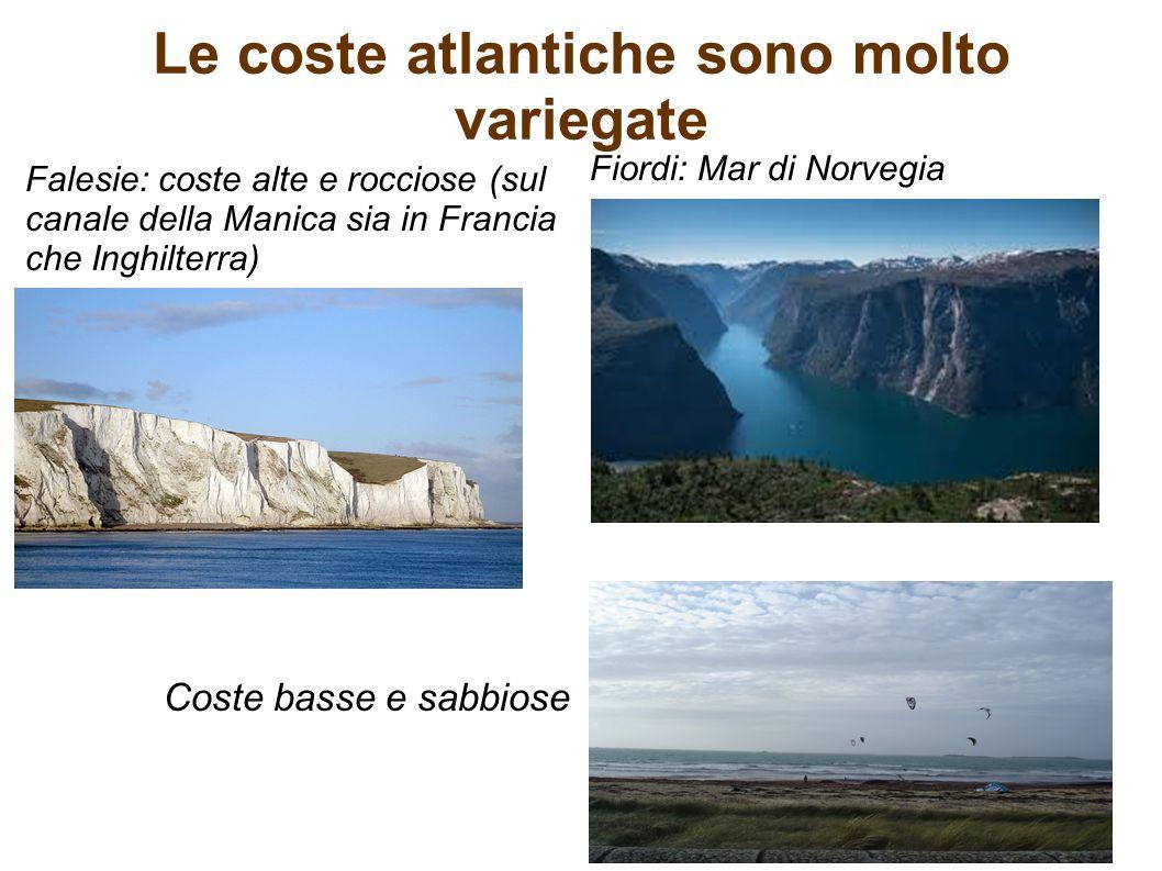 Le coste atlantiche sono molto variegate