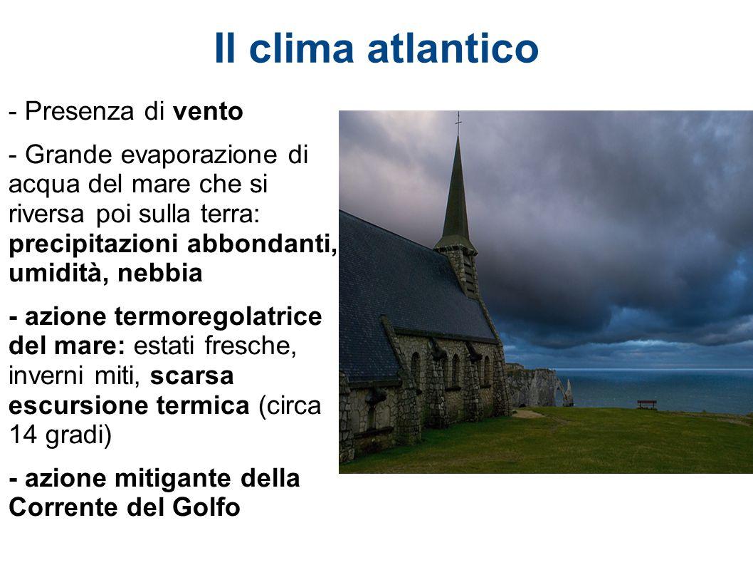 Il clima atlantico - Presenza di vento