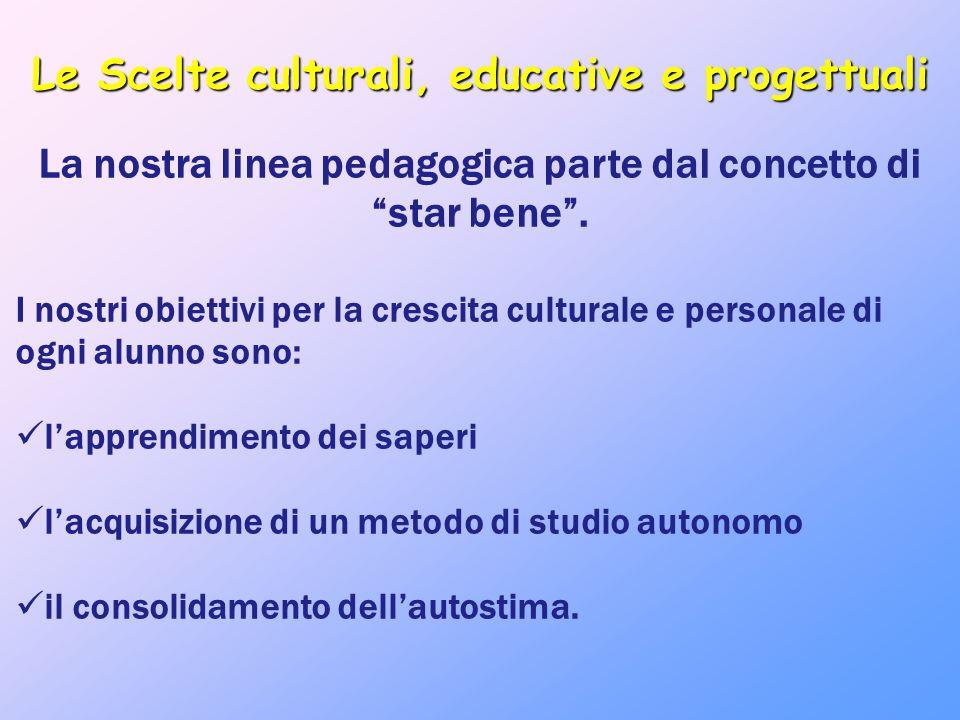 Le Scelte culturali, educative e progettuali