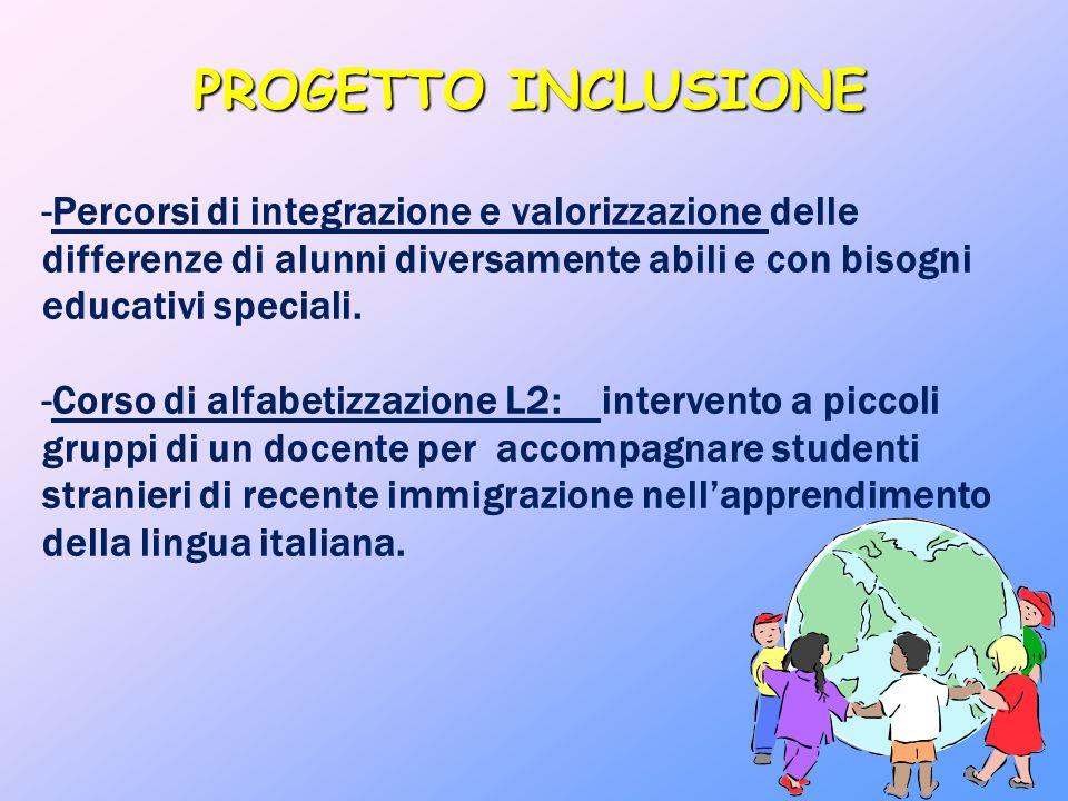 PROGETTO INCLUSIONE Percorsi di integrazione e valorizzazione delle differenze di alunni diversamente abili e con bisogni educativi speciali.