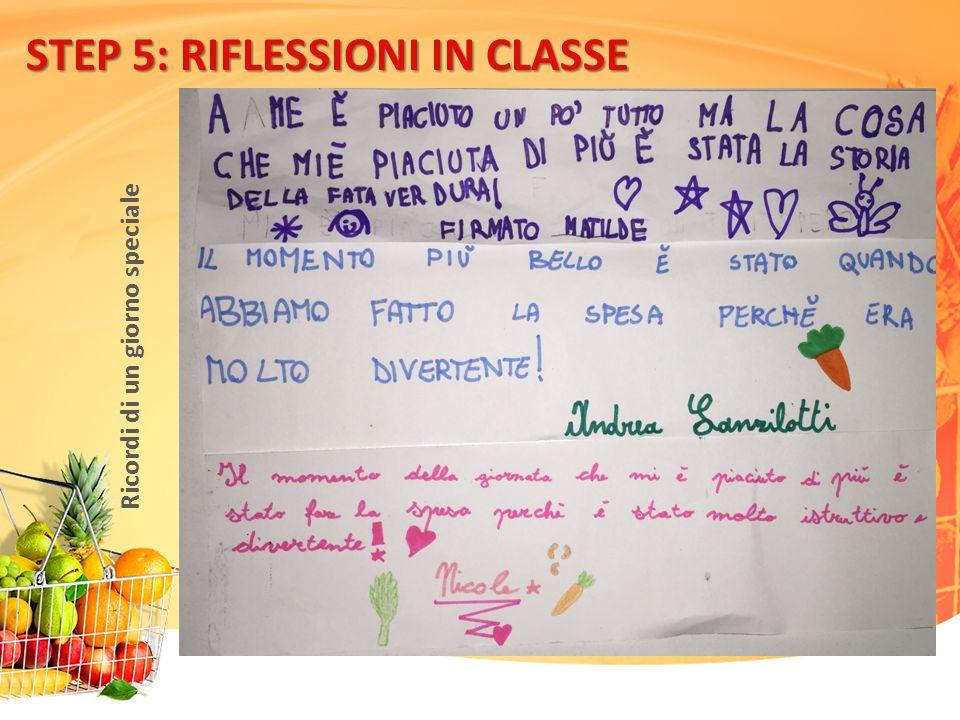 STEP 5: RIFLESSIONI IN CLASSE