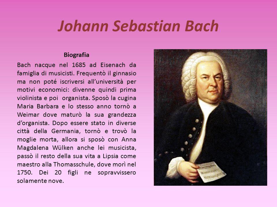 Johann Sebastian Bach Biografia