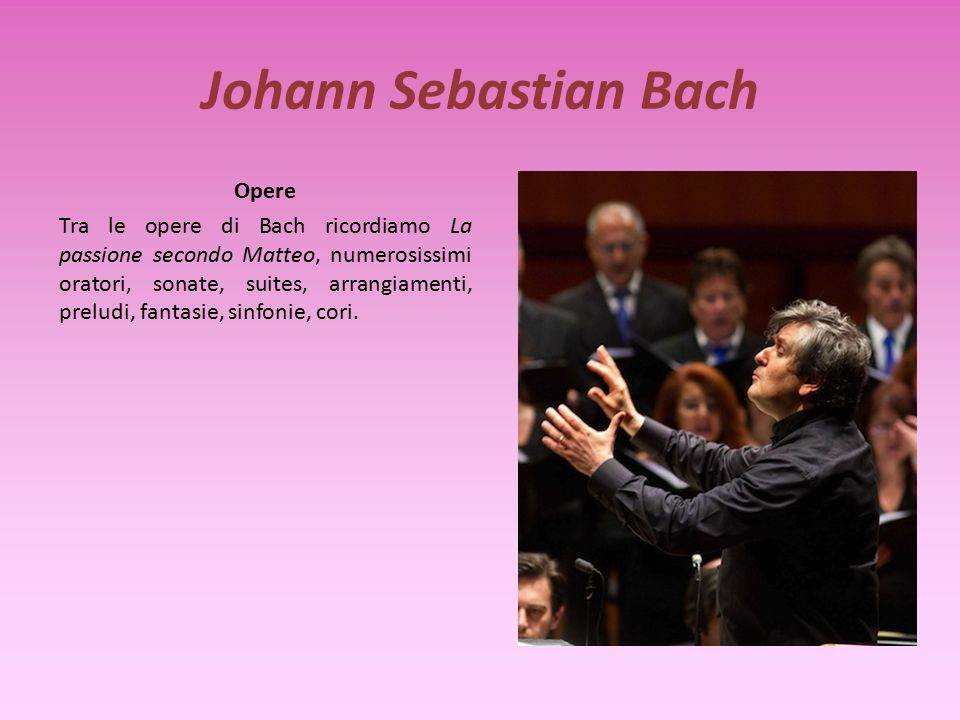 Johann Sebastian Bach Opere