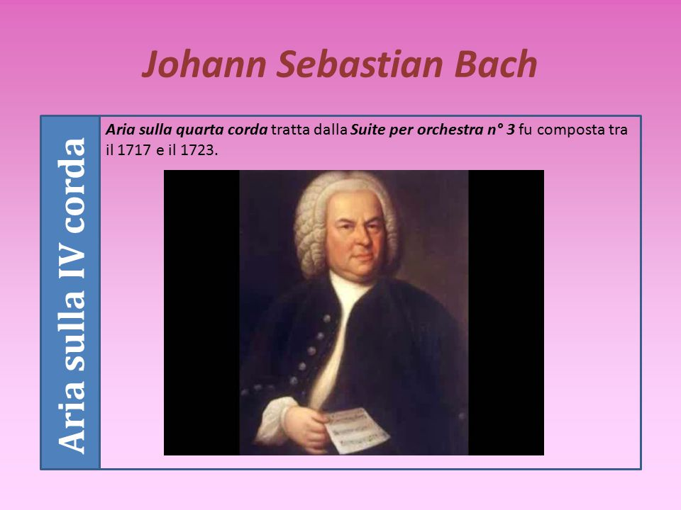 Johann Sebastian Bach Aria sulla IV corda