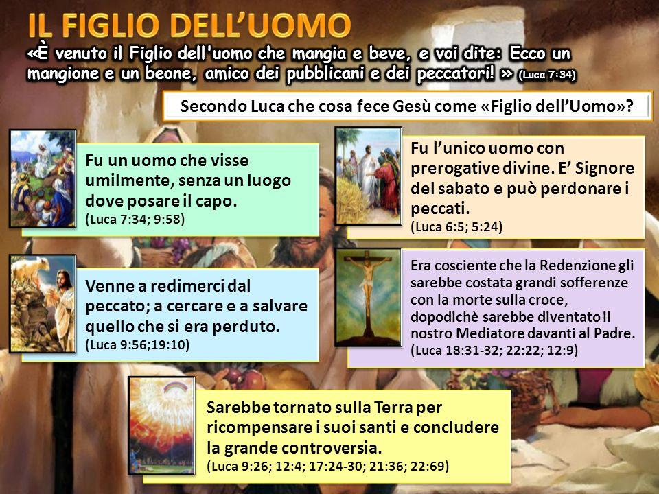 Secondo Luca che cosa fece Gesù come «Figlio dell'Uomo»