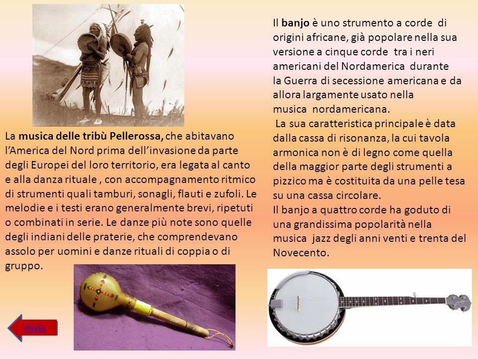 Il banjo è uno strumento a corde di origini africane, già popolare nella sua versione a cinque corde tra i neri americani del Nordamerica durante la Guerra di secessione americana e da allora largamente usato nella musica nordamericana.