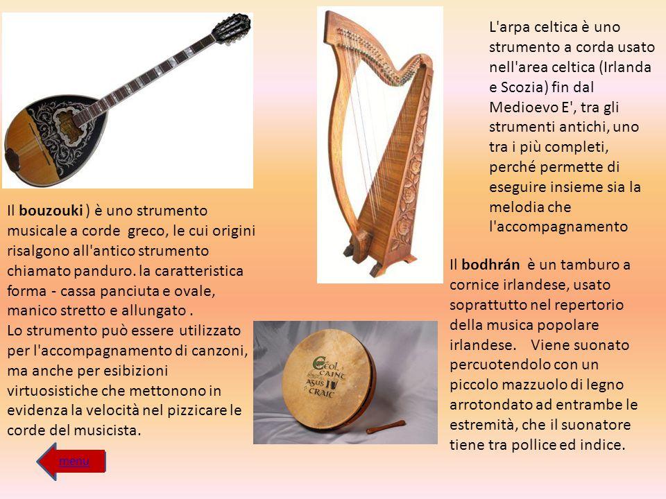 L arpa celtica è uno strumento a corda usato nell area celtica (Irlanda e Scozia) fin dal Medioevo E , tra gli strumenti antichi, uno tra i più completi, perché permette di eseguire insieme sia la melodia che l accompagnamento