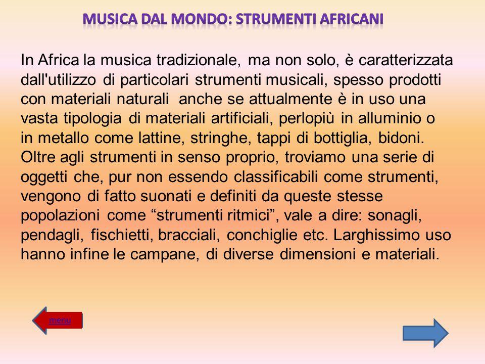 MUSICA DAL MONDO: STRUMENTI AFRICANI