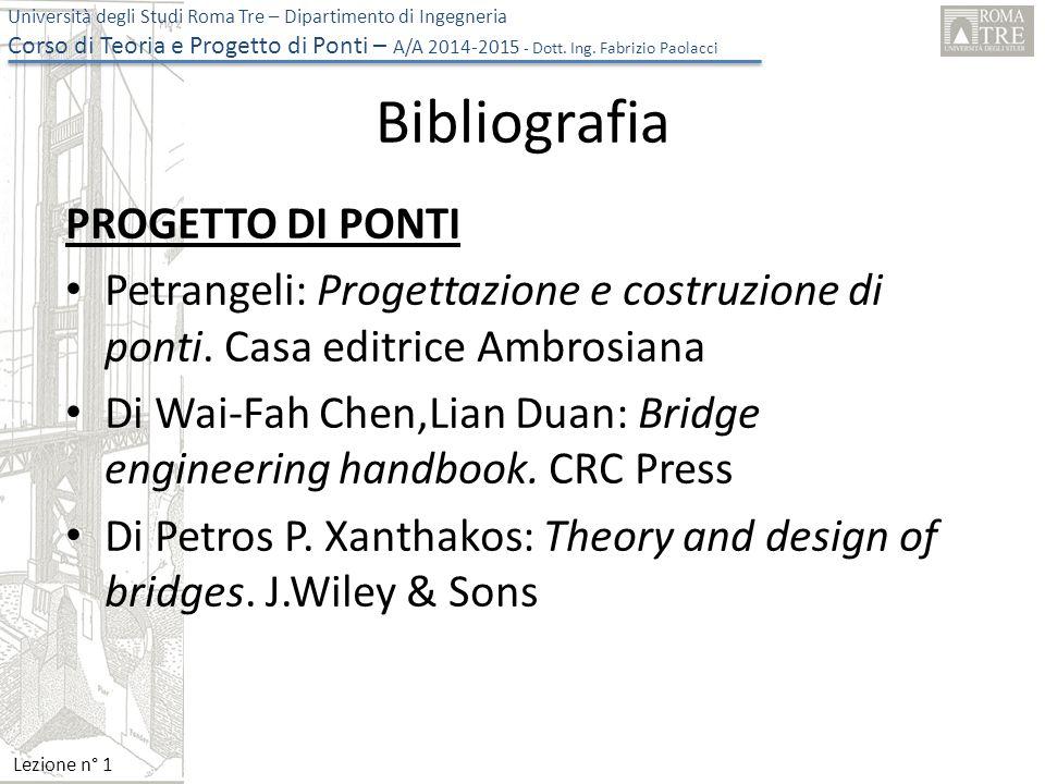 Bibliografia PROGETTO DI PONTI