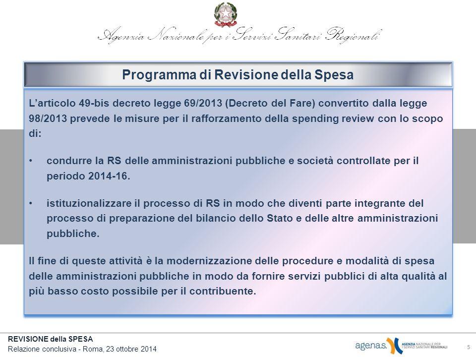 Programma di Revisione della Spesa