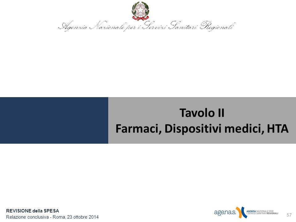 Farmaci, Dispositivi medici, HTA