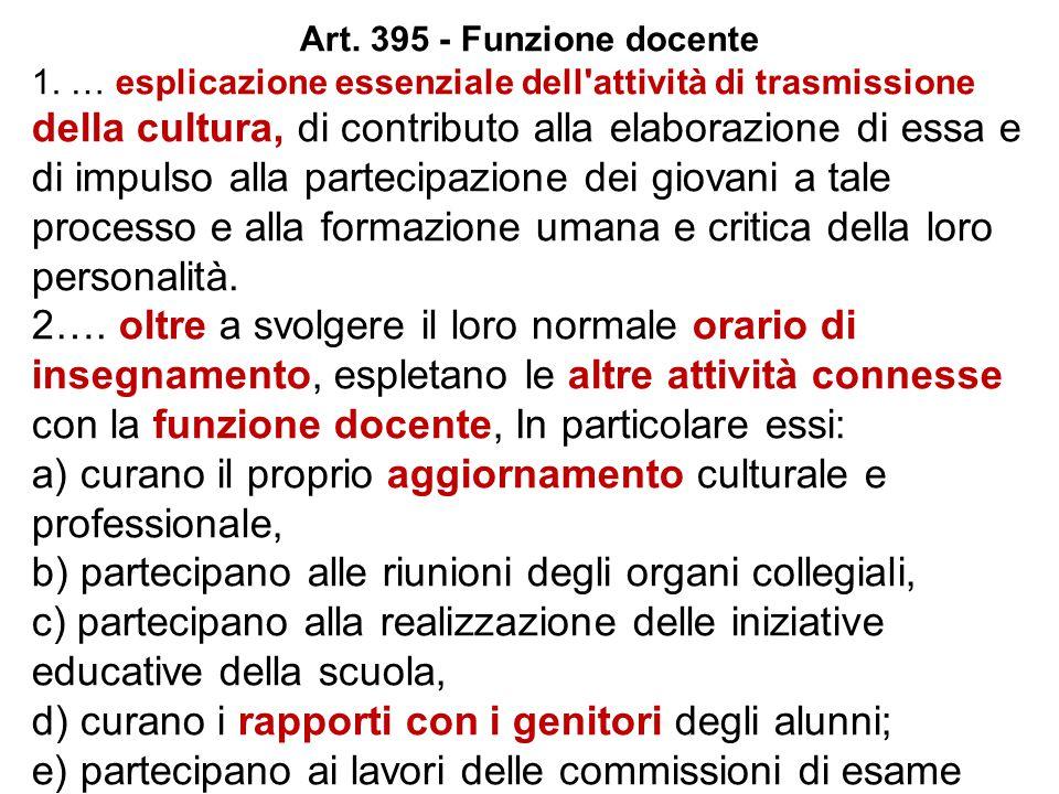 Art. 395 - Funzione docente