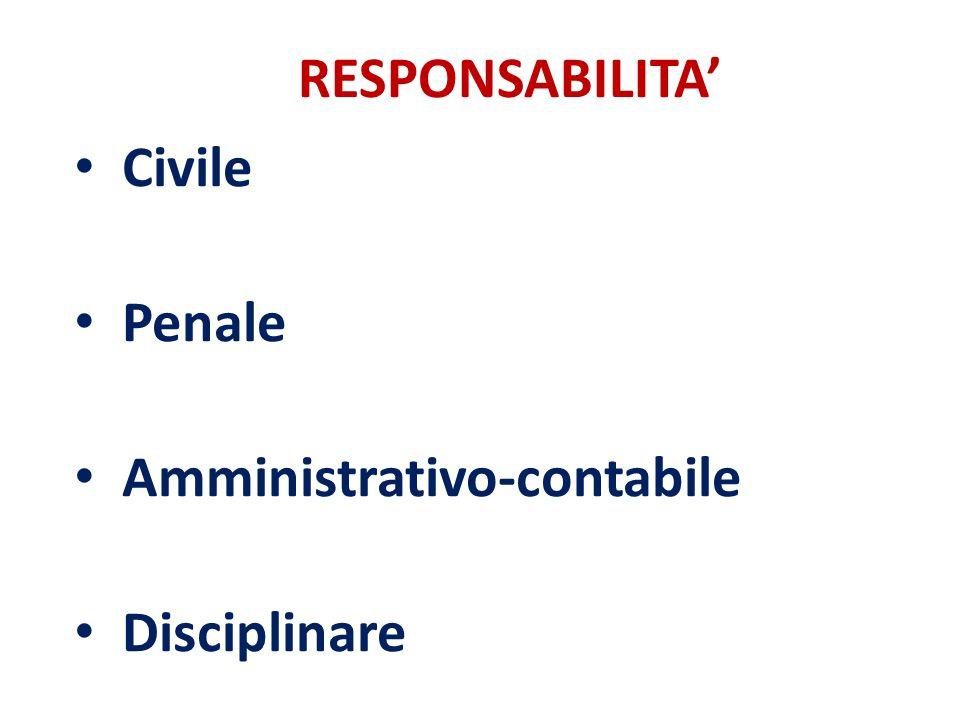 Civile Penale Amministrativo-contabile Disciplinare