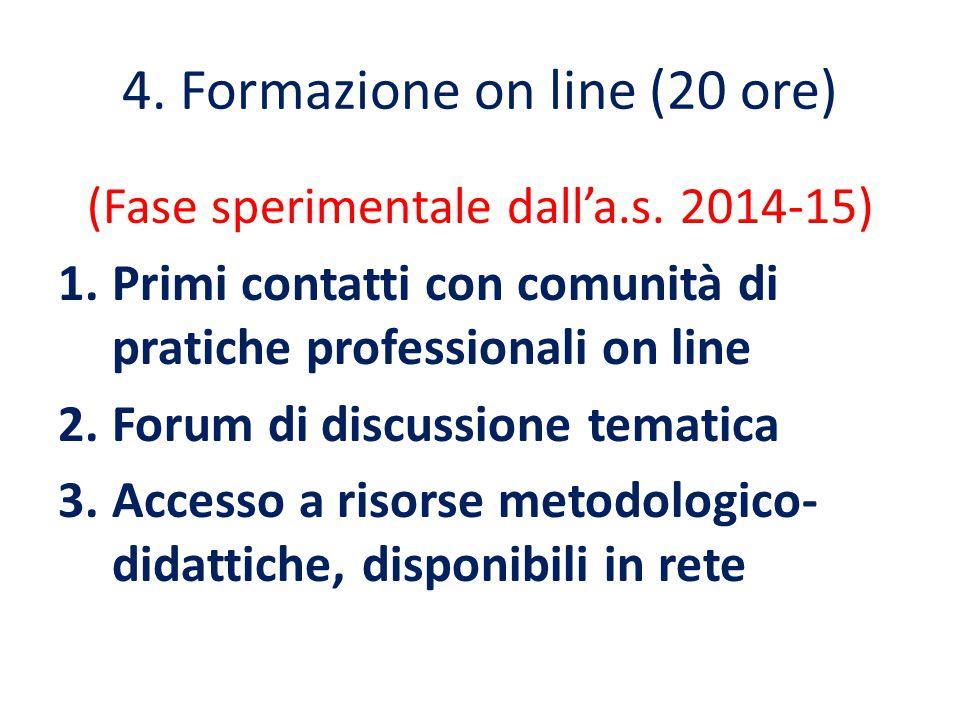 4. Formazione on line (20 ore)