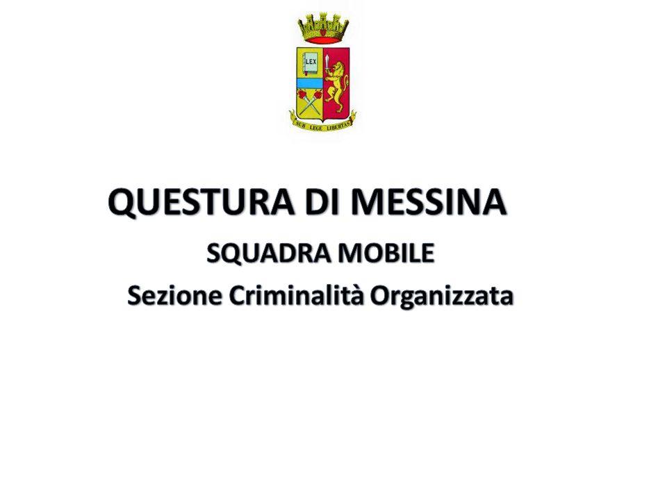 SQUADRA MOBILE Sezione Criminalità Organizzata