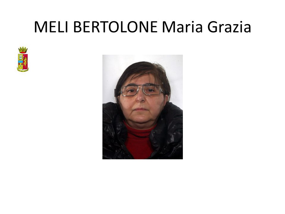 MELI BERTOLONE Maria Grazia