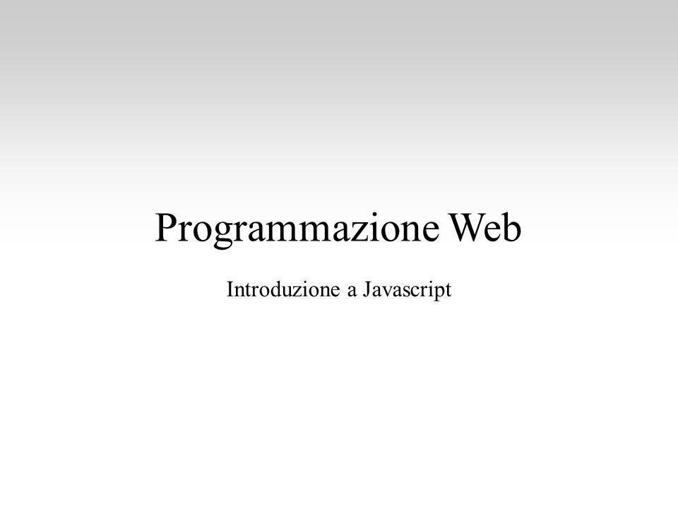 Introduzione a Javascript