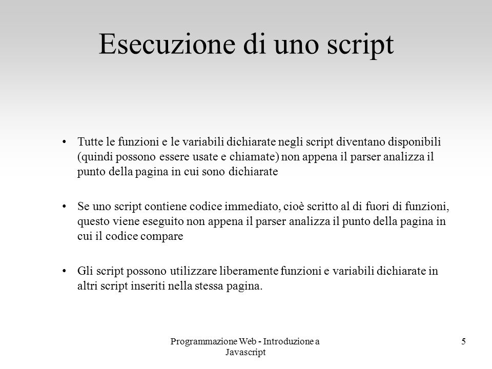 Esecuzione di uno script