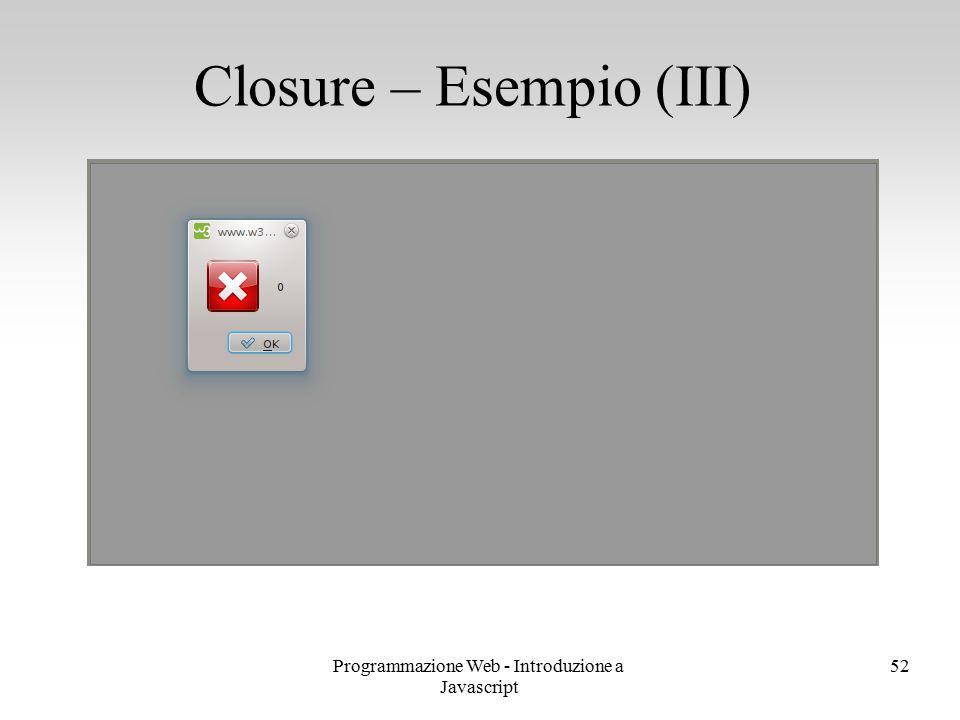 Closure – Esempio (III)