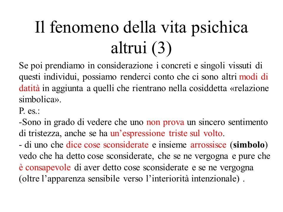 Il fenomeno della vita psichica altrui (3)