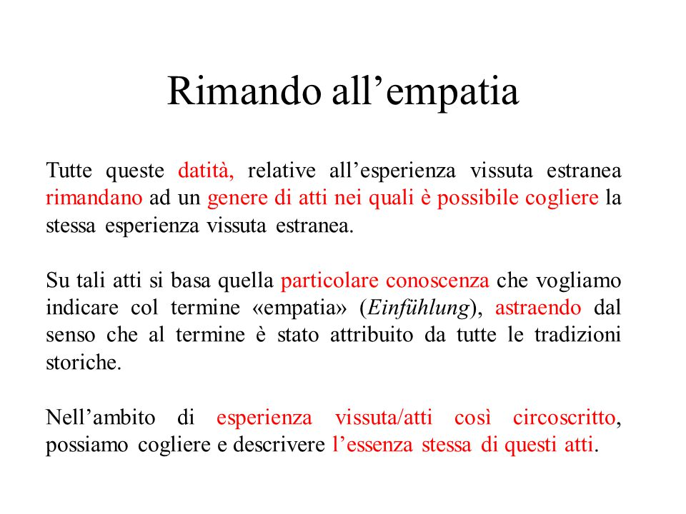 Rimando all'empatia