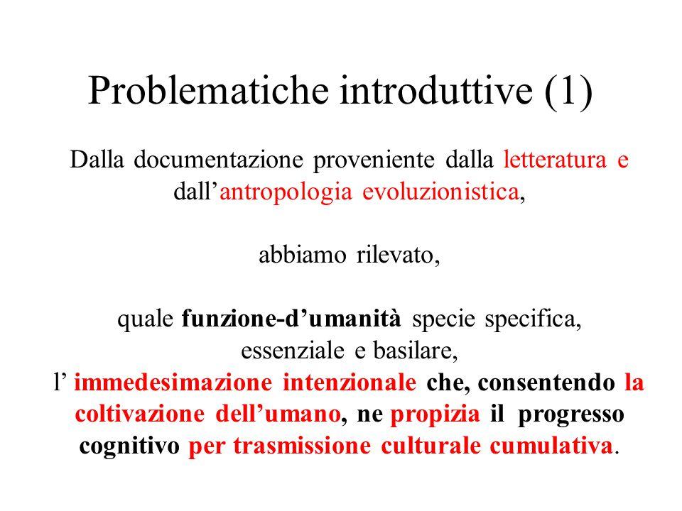 Problematiche introduttive (1)