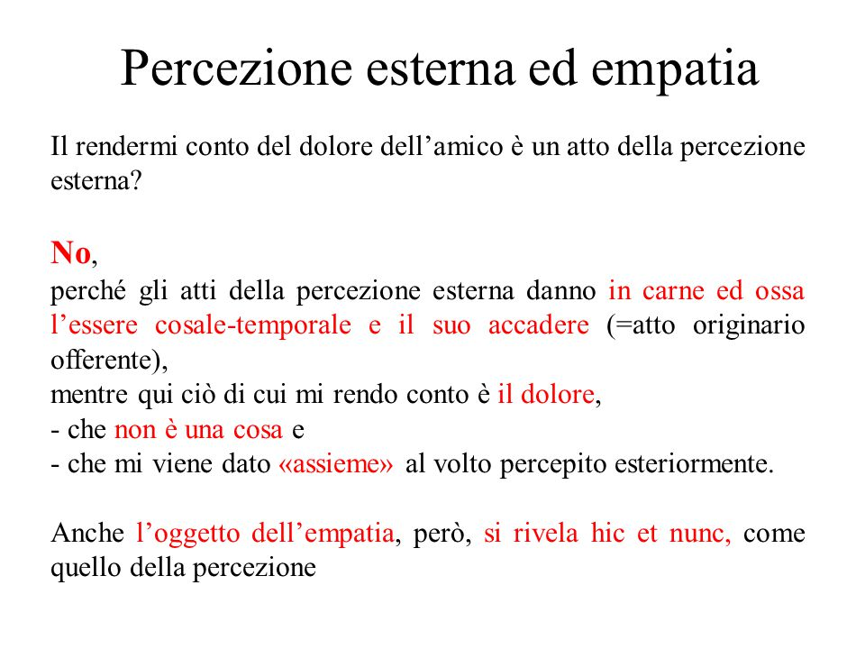 Percezione esterna ed empatia