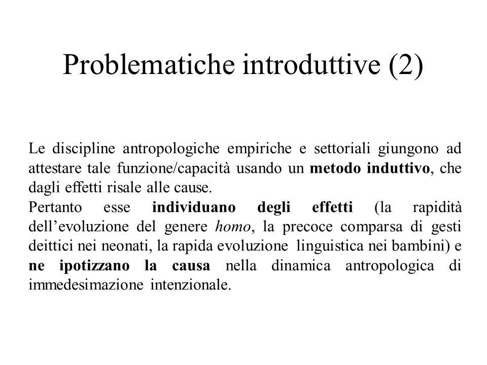 Problematiche introduttive (2)