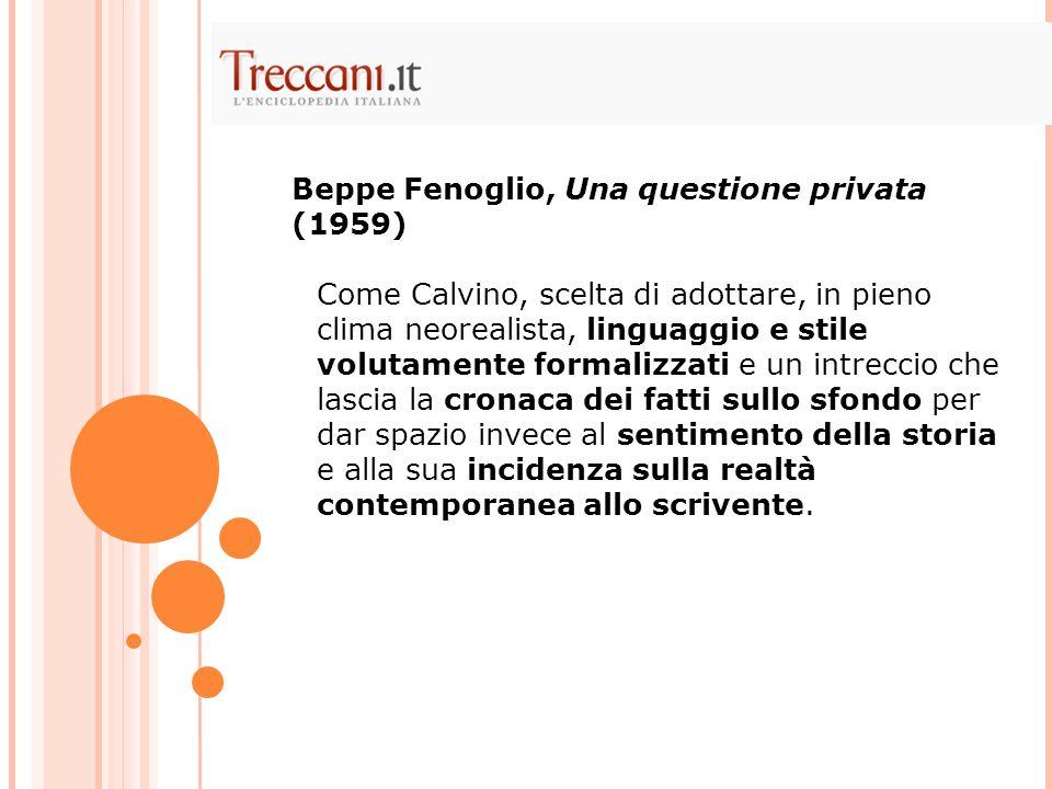 Beppe Fenoglio, Una questione privata (1959)
