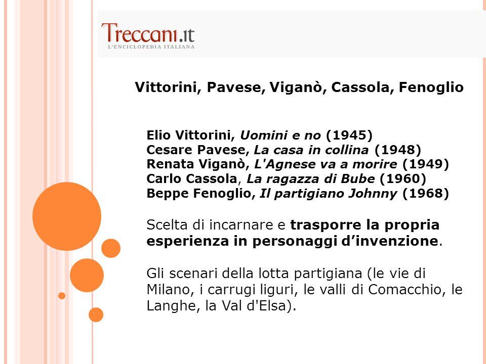 Vittorini, Pavese, Viganò, Cassola, Fenoglio
