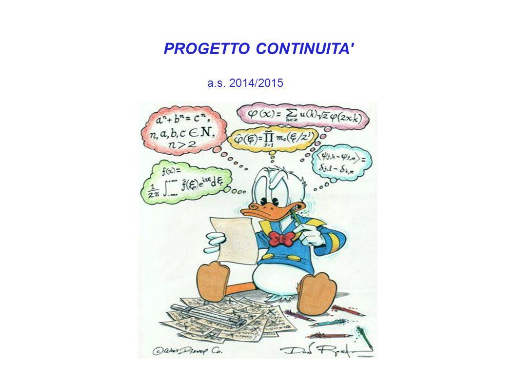 PROGETTO CONTINUITA a.s. 2014/2015