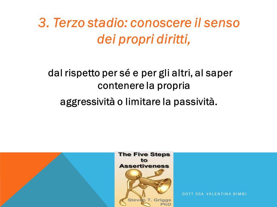3. Terzo stadio: conoscere il senso dei propri diritti,