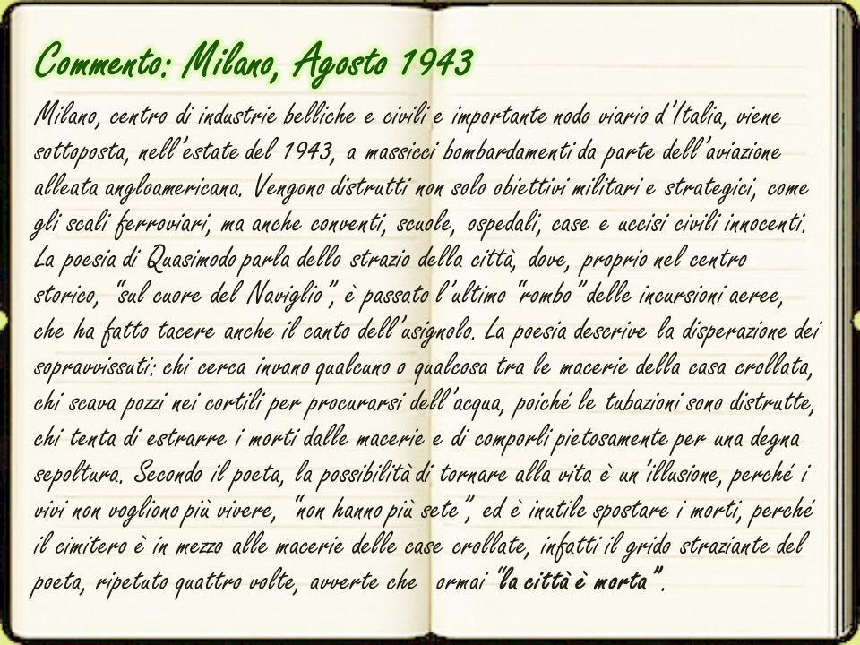 Commento: Milano, Agosto 1943
