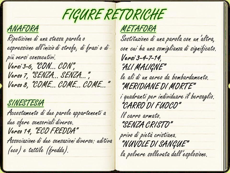 FIGURE RETORICHE ANAFORA METAFORA