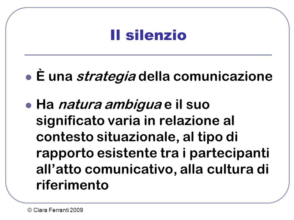 Il silenzio È una strategia della comunicazione