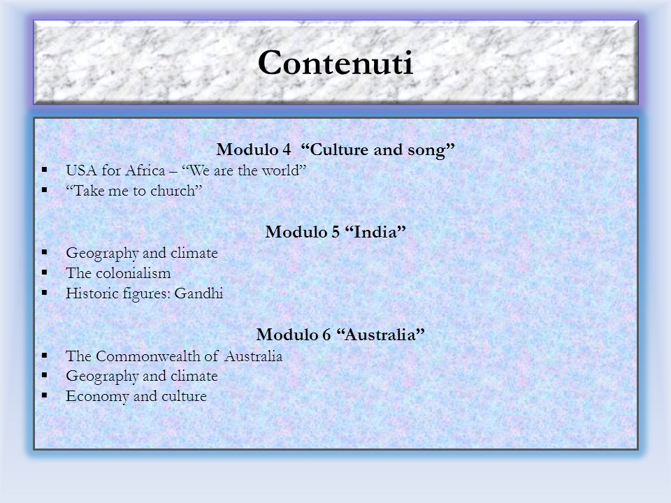 Modulo 4 Culture and song