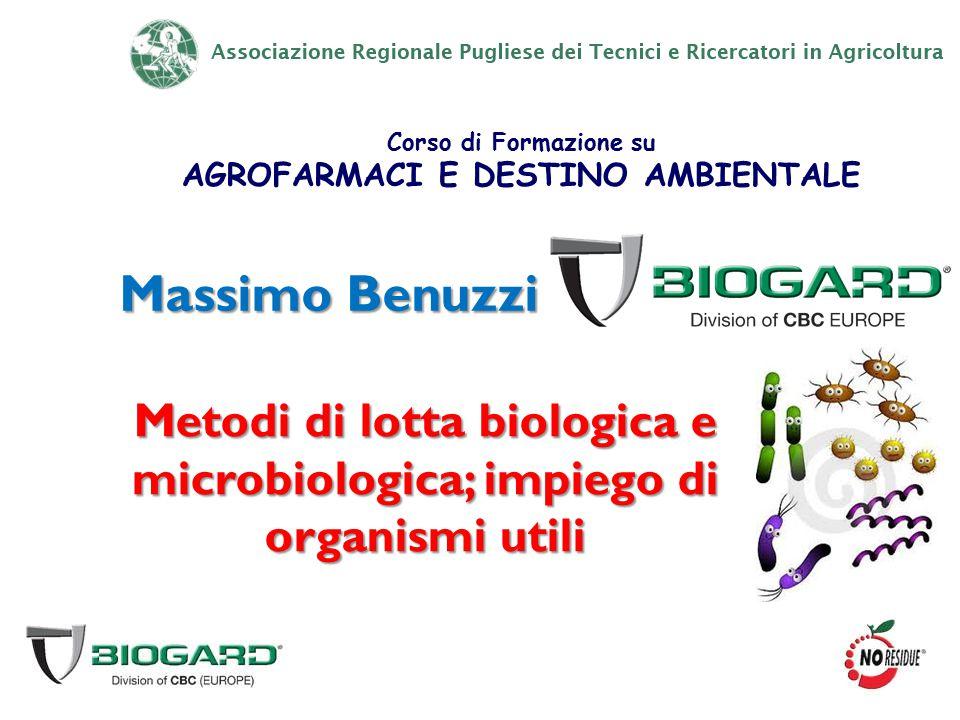 Metodi di lotta biologica e microbiologica; impiego di organismi utili