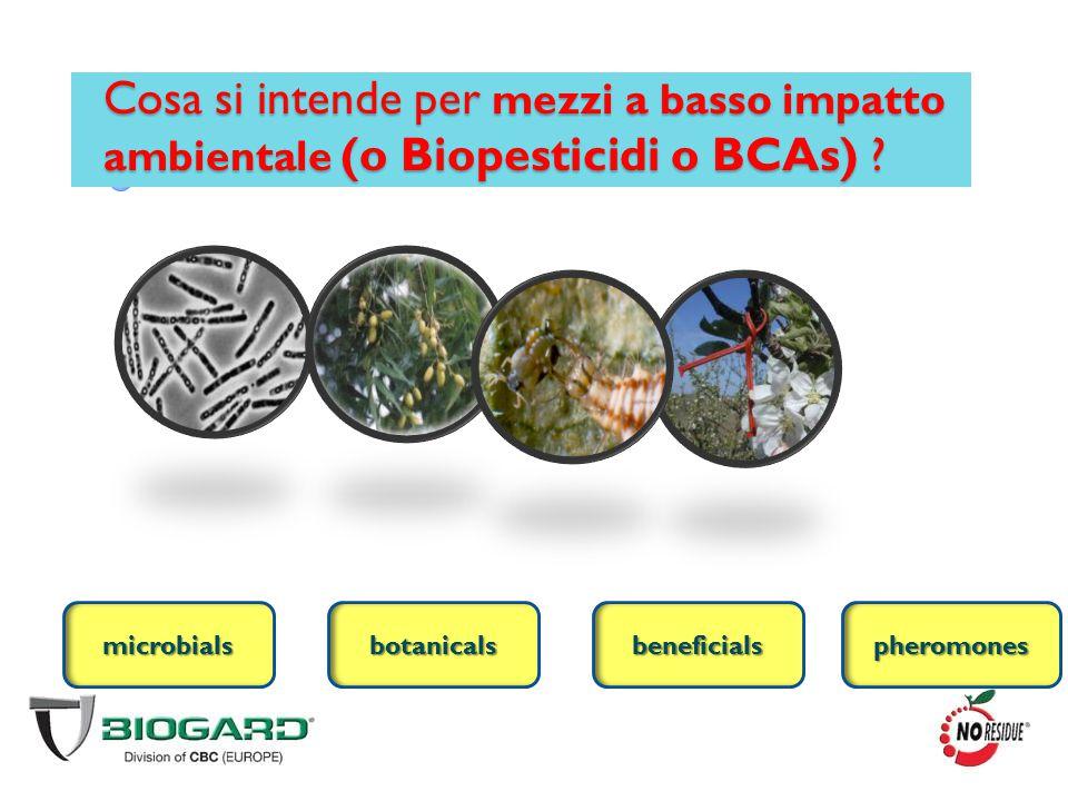 Cosa si intende per mezzi a basso impatto ambientale (o Biopesticidi o BCAs)