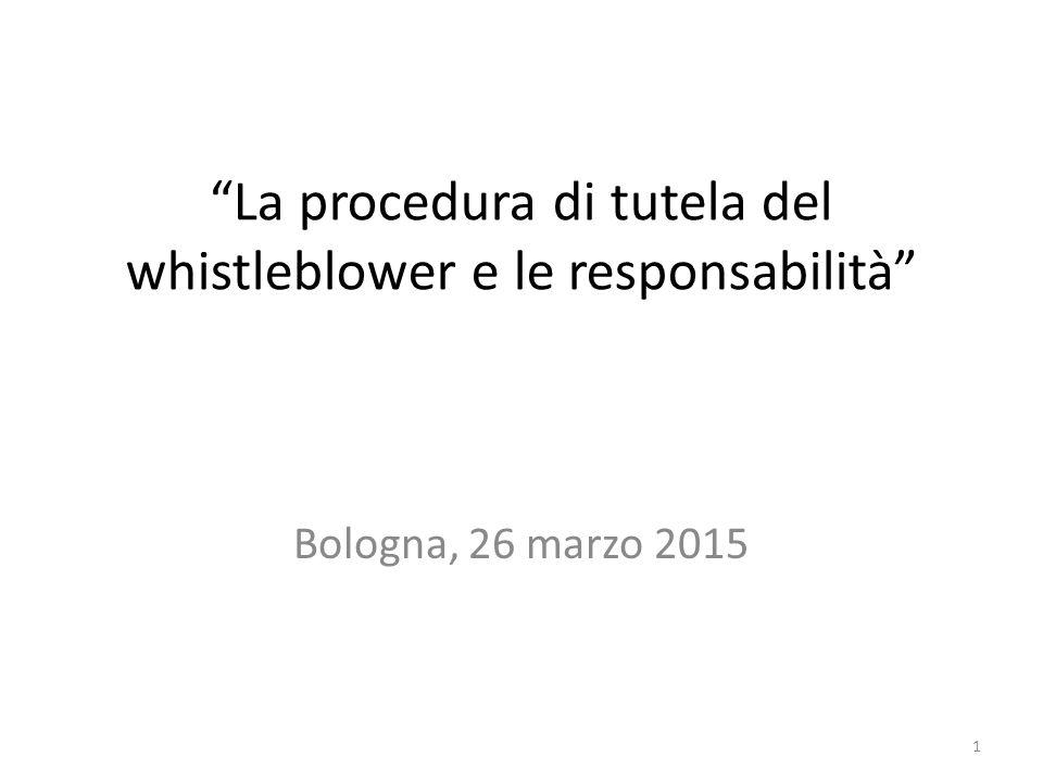 La procedura di tutela del whistleblower e le responsabilità