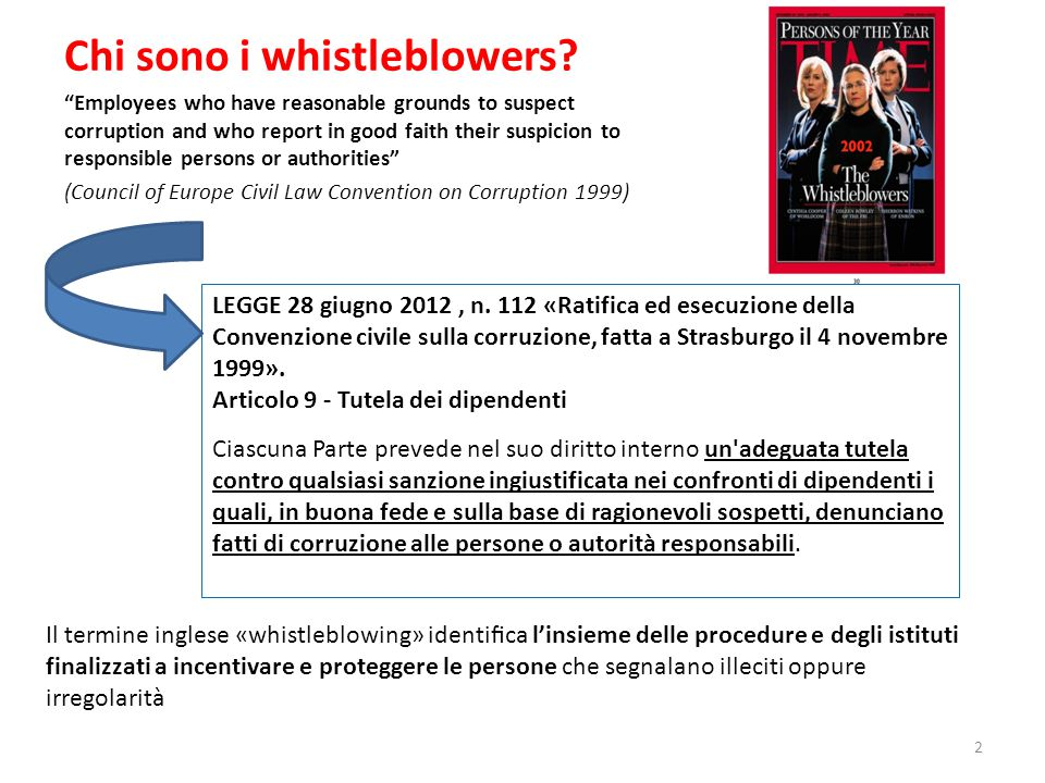 Chi sono i whistleblowers