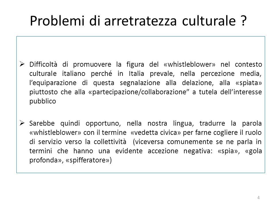Problemi di arretratezza culturale
