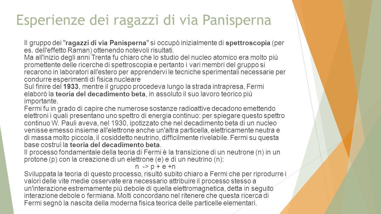 Esperienze dei ragazzi di via Panisperna