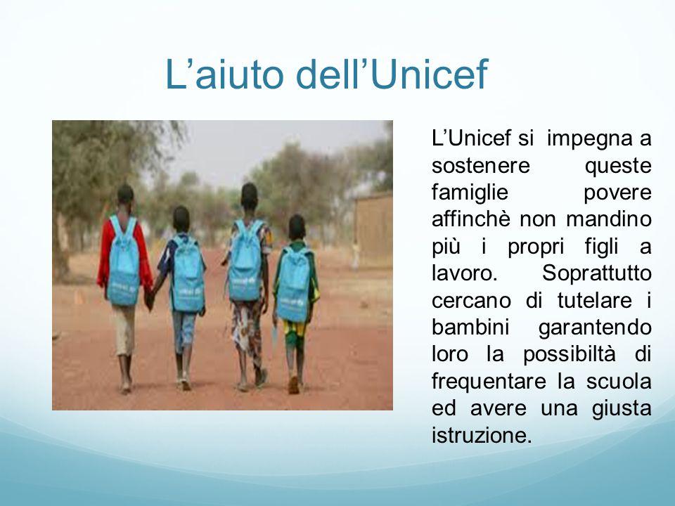 L'aiuto dell'Unicef